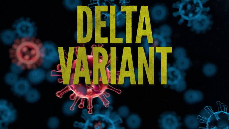 Coronavirus Delta variant graphic.