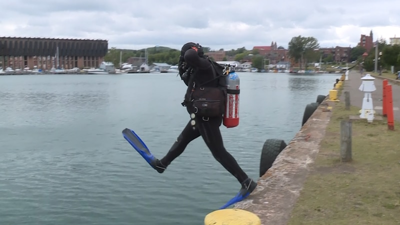 The President of the new divers club in Marquette