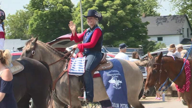 Participants in Bark River's Fourth of July parade