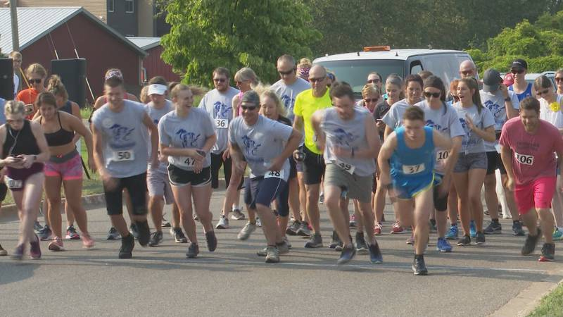 Participants at a past Run for Recovery event.