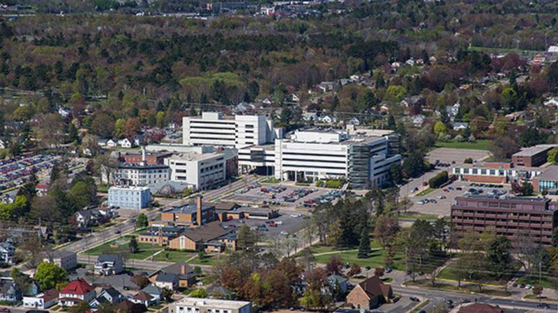 A file image of the former Marquette General Hospital.