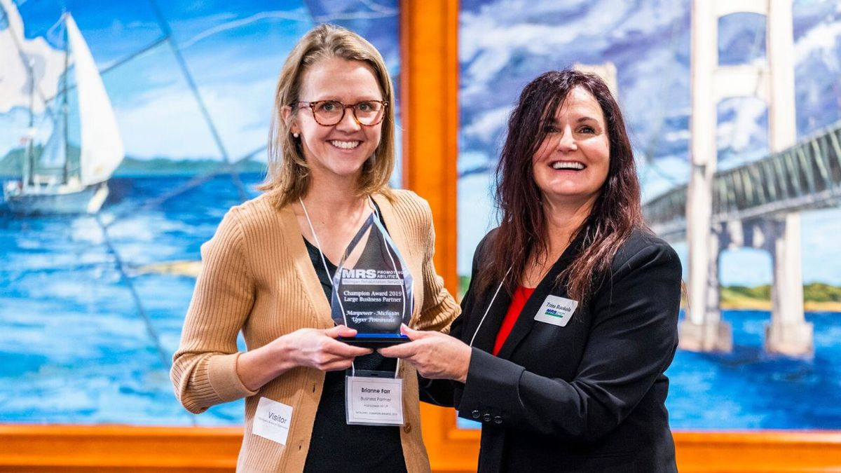 Manpower of Marquette was recognized as a 2019 MRS Champion Award for Business partners from...
