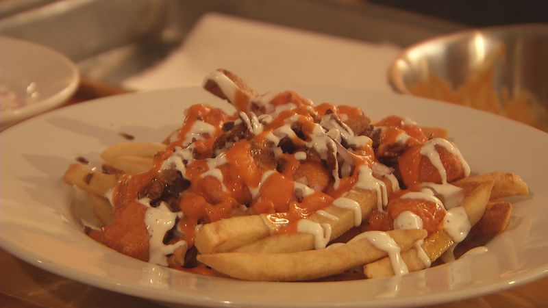 One of Stucko's Pub and Grill's many poutine flavors