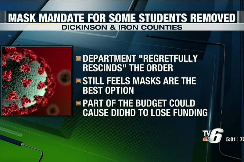 Dickinson-Iron District Health Department rescinds mask order