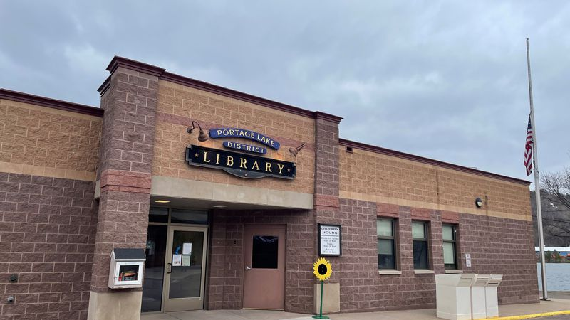 FILE. Portage Lake District Library in Houghton.