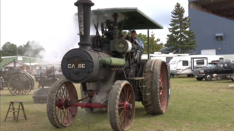 A 1913 Case 60-horse tractor.