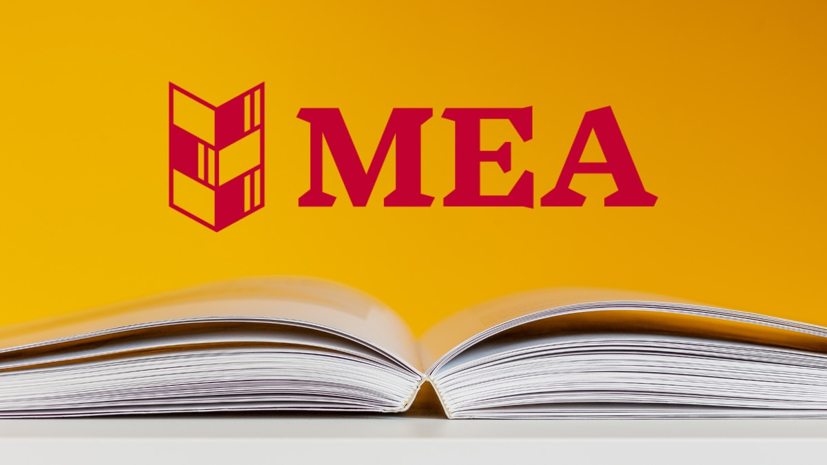 Michigan Education Association logo and book image.