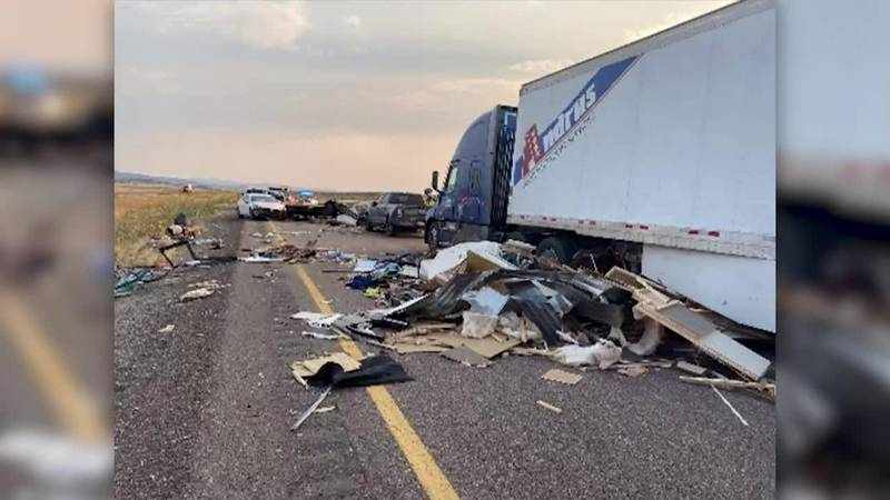 Twenty vehicles were involved in a pileup Sunday during a sandstorm in Utah. At least seven...