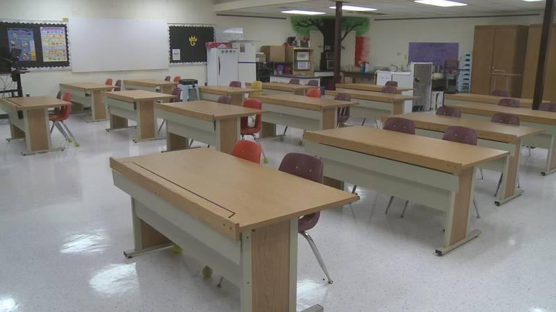 A classroom at Gwinn Area Community Schools.