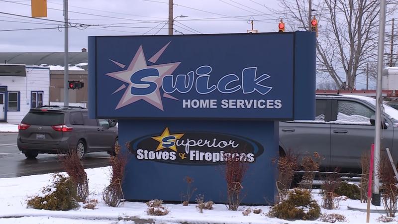 Swick sign in Marquette
