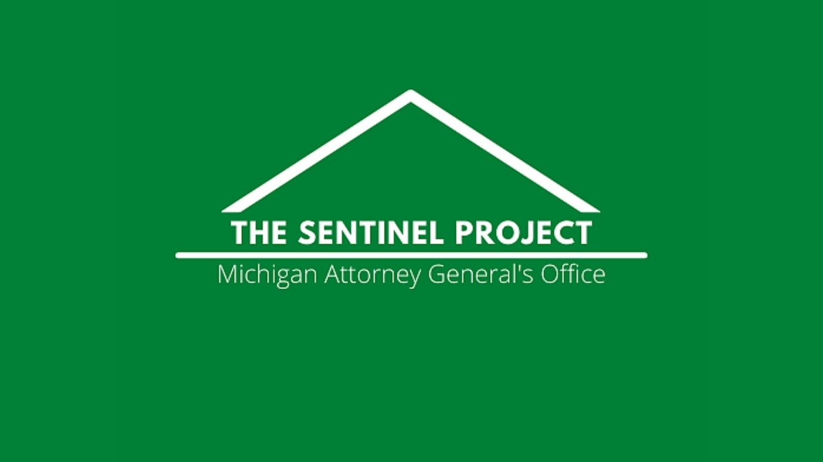 Logo for Michigan's The Sentinel Project.