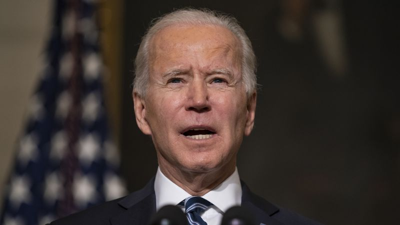 FILE - In this Jan. 27, 2021, file photo President Joe Biden delivers remarks on climate change...