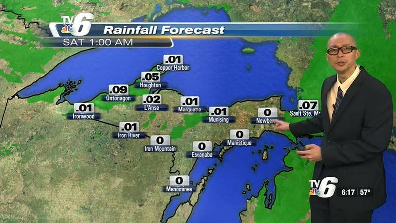 Lake effect rain showers in the NW wind belts Saturday then diminishing west-to-east Sunday.