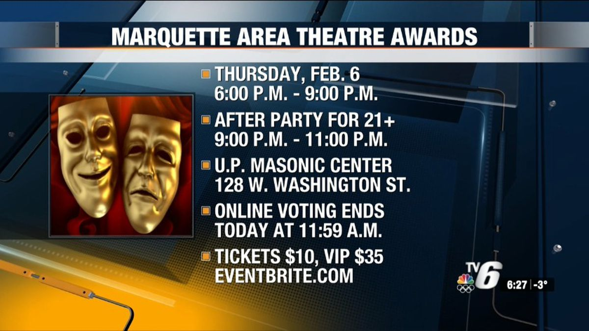 Four Marquette area theatre groups are coming together to recognize and raise money for their organizations and the people who make stage shows possible each year.