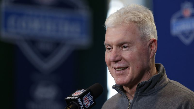 FILE -- In this file photo, Green Bay Packers general manager Ted Thompson speaks during a...