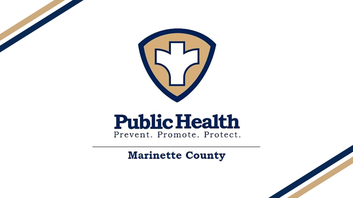 Marinette County Public Health for Marinette County, Wisconsin, logo.