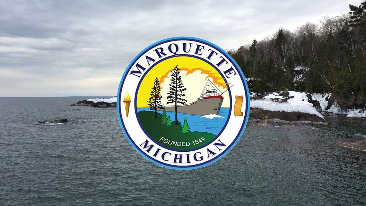 (WLUC photo with City of Marquette logo)