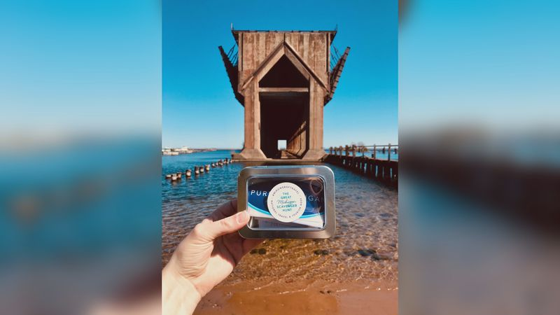 Travel Marquette is hiding tin containers all around Marquette County with prizes inside....