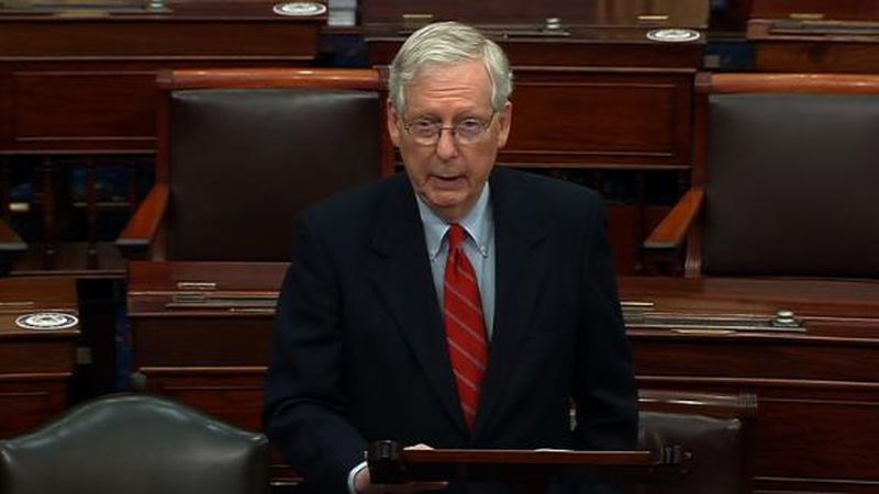 "Senate Majority Leader Mitch McConnell says President Donald Trump is ""100% within his rights""..."