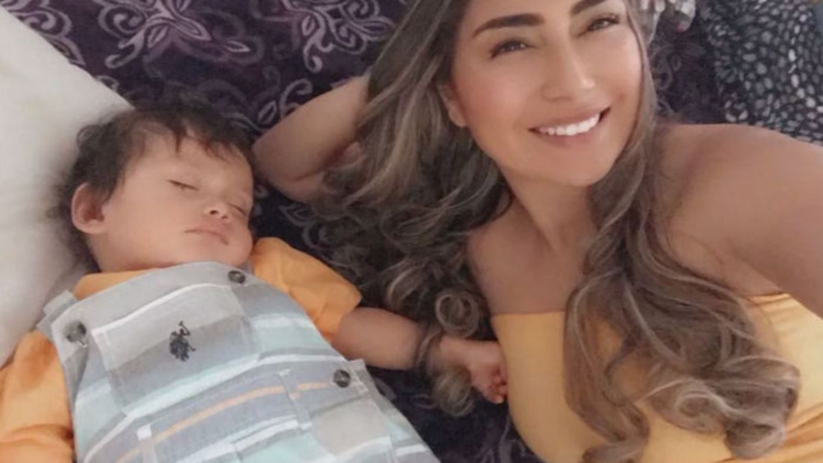 Mother Mireya Mora is hopeful her 1-year-old son won't catch COVID-19 following the incident, which she believes may have been motivated by race. (Source: Mireya Mora/KGO/CNN)