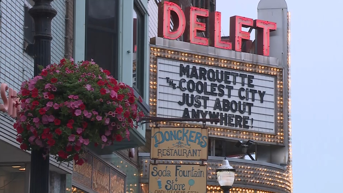 The marquee of the Delft Bistro expressing Marquette's coolness