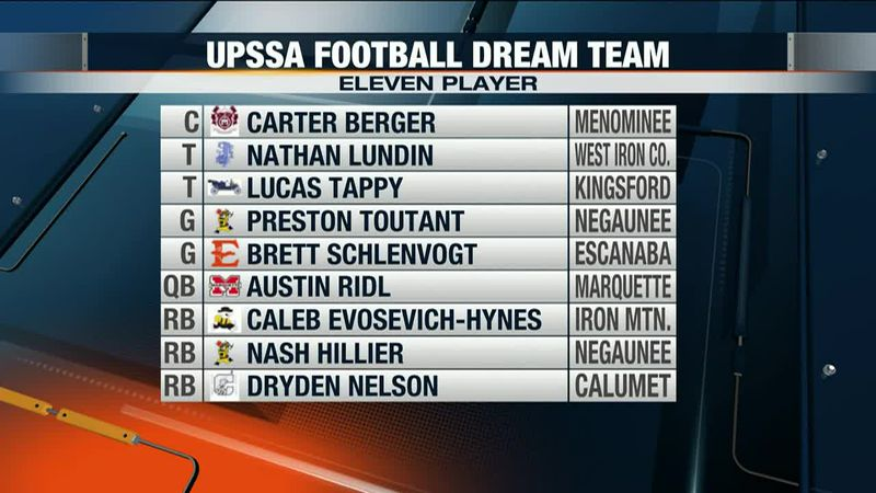 Here's a look at most of the U.P. Dream Team Football Offense