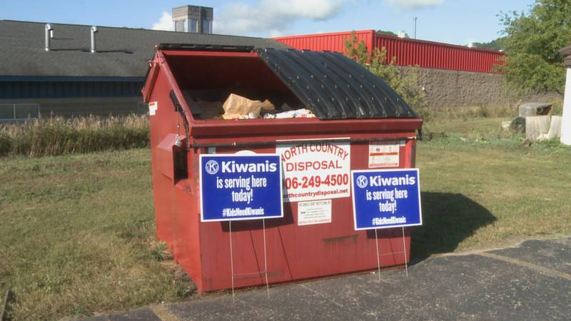 Alger County residents filled this dumpster to near capacity each Monday for the last thirteen...