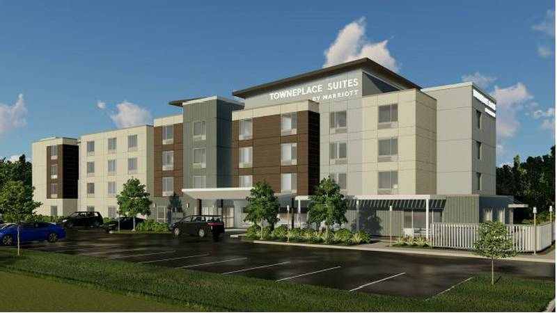 A rendering of the new hotel