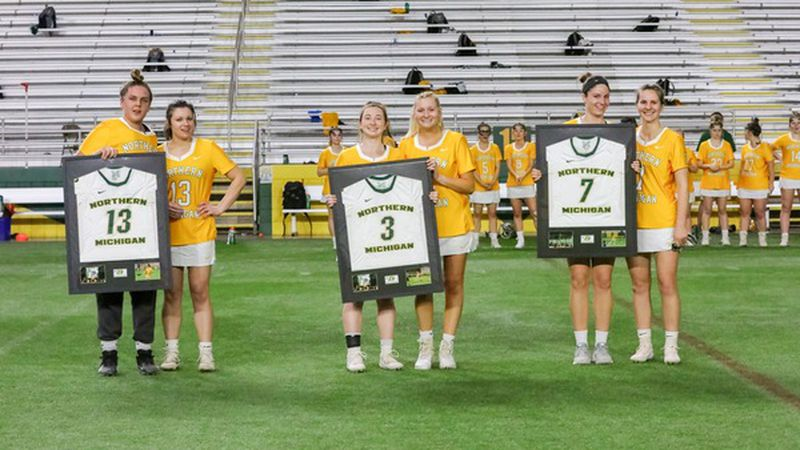 NMU lacrosse ends their season with Senior Day.