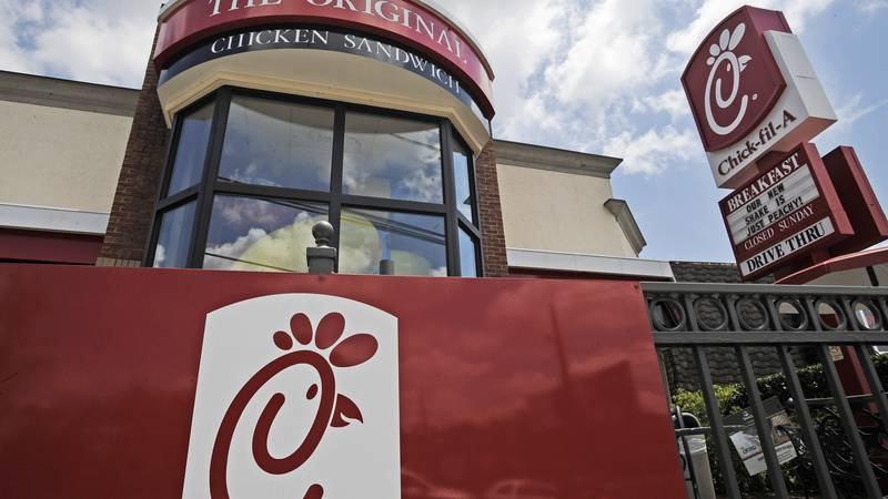 FILE - This July 19, 2012, file photo, shows a Chick-fil-A fast food restaurant in Atlanta.