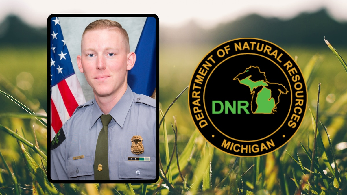 On Sunday, Michigan Department of Natural Resources Conservation Officer Scott MacNeill used a...