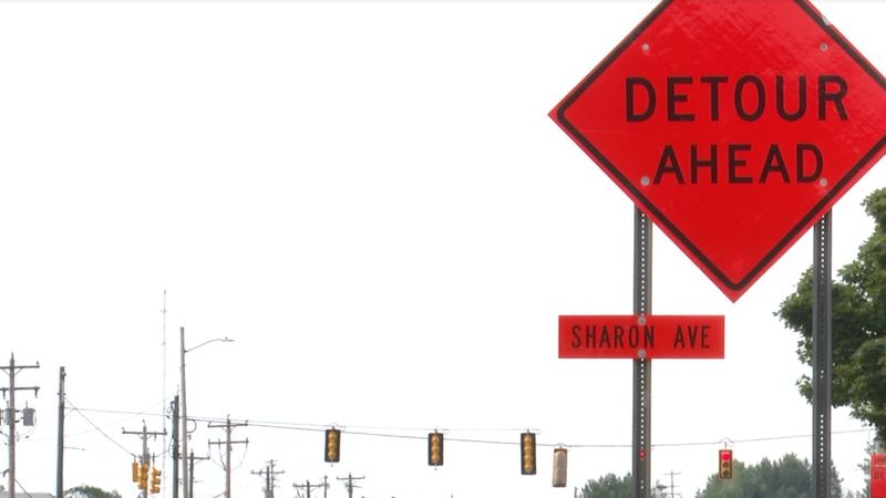 Sharon Ave. construction continues in Houghton, detouring drivers down US-41 all the way to...