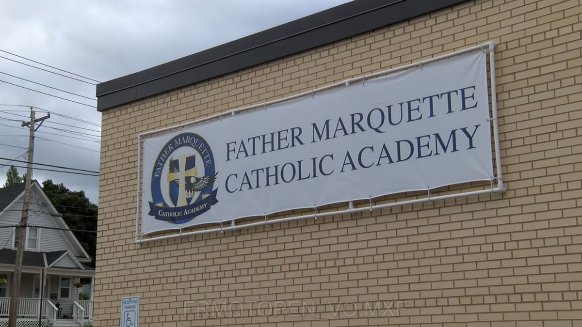 Father Marquette Catholic Academy (WLUC image)