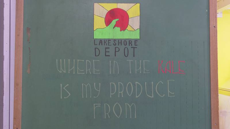 Lakeshore Depot highlights the local farms in which its food was sourced from.