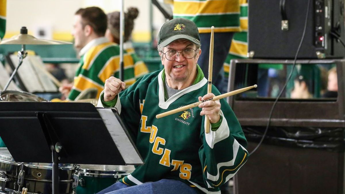 "The parents of Todd Honch (pictured) – known as ""Stix"" by many because he was considered an excellent drummer—have endowed a scholarship to memorialize his passion for Northern Michigan University bands and sporting events. (NMU Photo)"