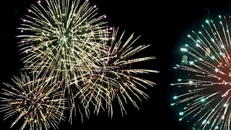 Previous fireworks in Marquette.
