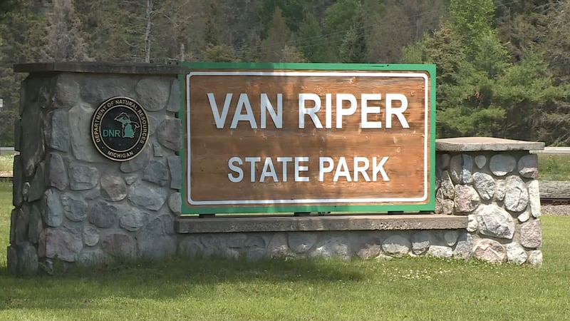 The sign at the entrance to Van Riper State Park