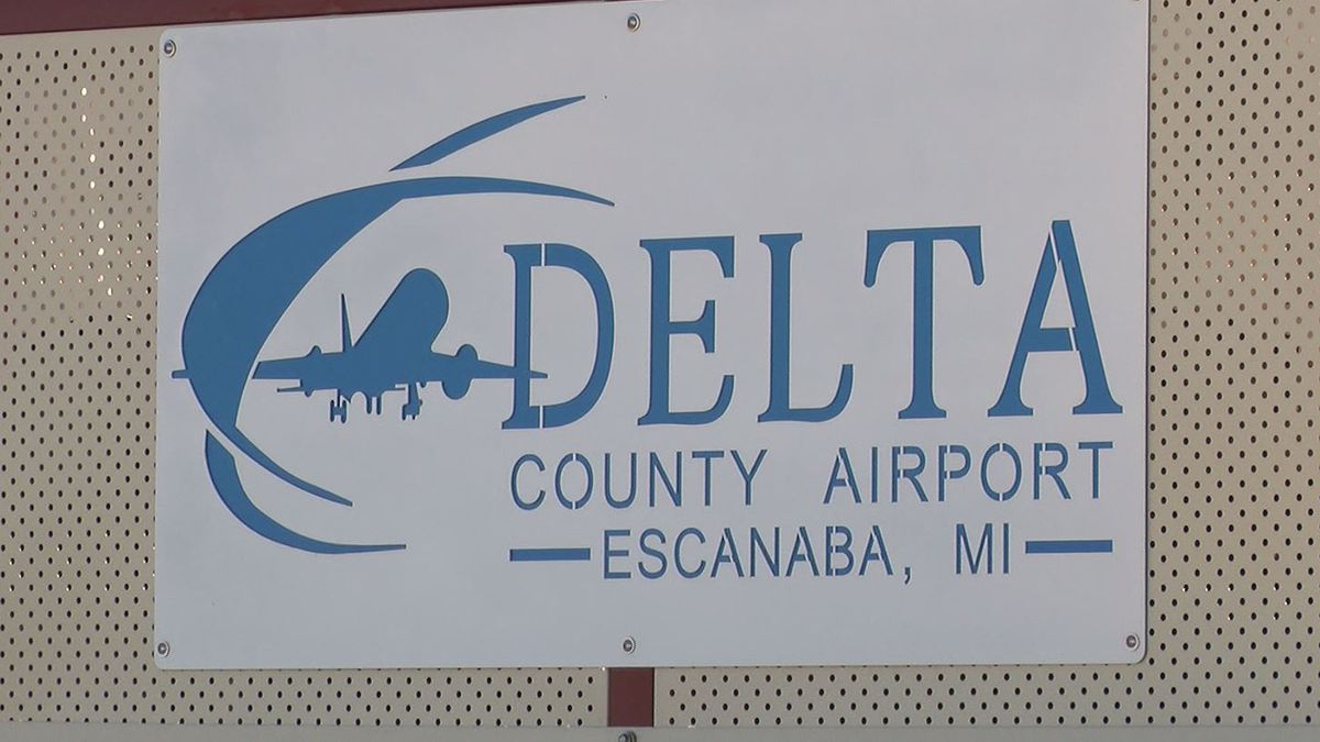 FILE. Delta County Airport sign.