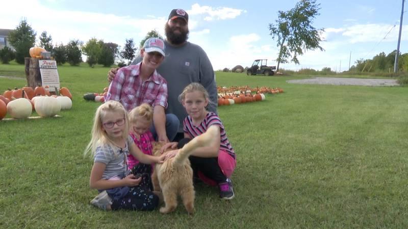 The Porath family on the farm.