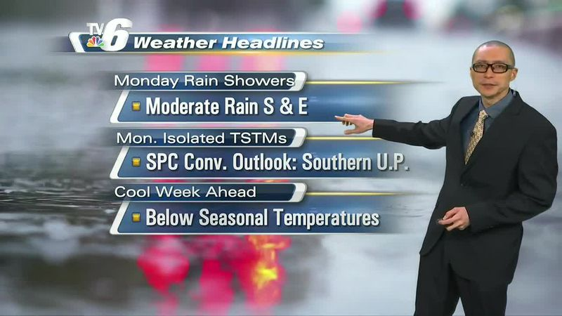 Moderate rainfall episodes possible for southern and eastern locations
