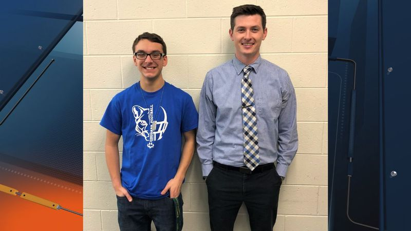 Superior Central student, Caleb Nimee, and Teacher Brenton Fitzpatrick. (Superior...