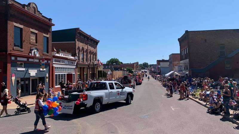 Negaunee's Pioneer Days Parade on Iron Street, July 10, 2021.