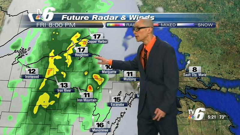 Rainfall amounts quarter to half-inch and higher in areas of t-storms -- showers dissipating...