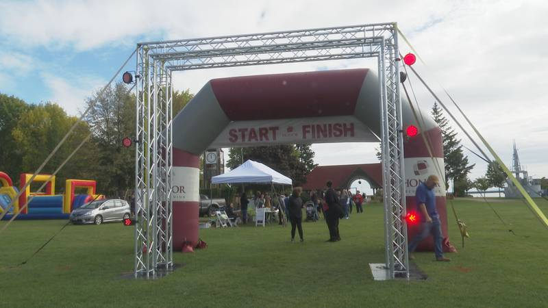 The start and finish line of the Full Meter-Thon