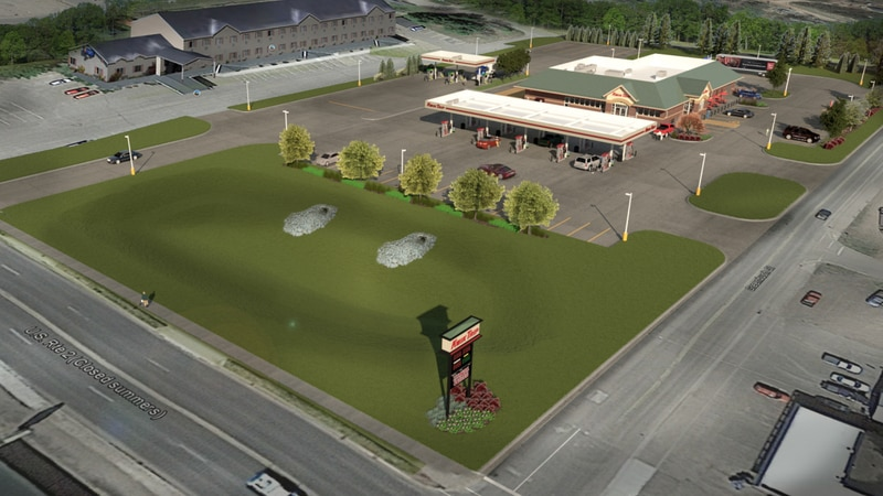 Kwik Trip rendering of location planned for Cloverland Drive/US-2 in Ironwood, Mich.