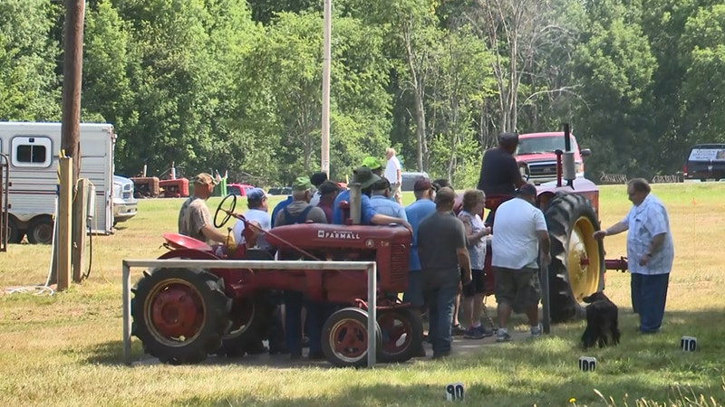 Contestant in Sunday's tractor pull