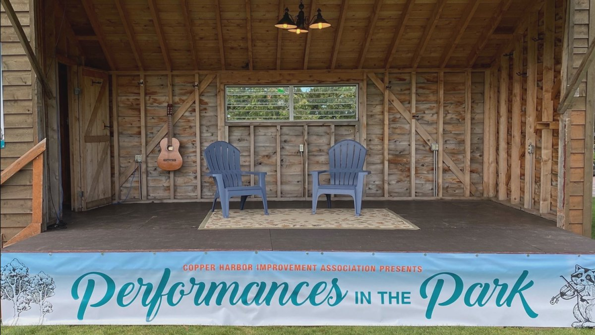 The mobile stage for the Performances in the Park concert series.