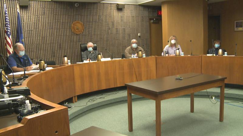 Dr. Bob Lorinser and Health Officer Jerry Messana joined the board to discuss the order.