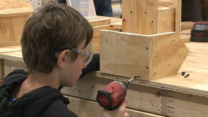 Wednesday's birdhouse workshop is part of the camp's mission in positive reinforcement and...