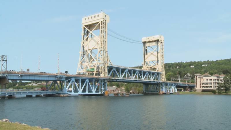 Construction on the joints of the Portage Lake Lift Bridge is causing traffic delays.